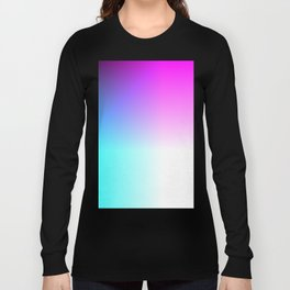 Blue Purple Pink and White Ombre Ocean Long Sleeve T-shirt