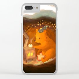 Snowy Rooftops Clear iPhone Case
