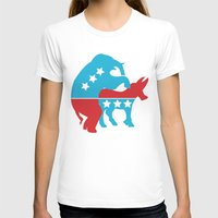 politics T-shirts featuring Politics by Mike Stark