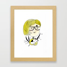 Hipster Girl Framed Art Print