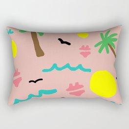 Beachy Keen By the Sea Rectangular Pillow