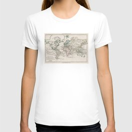 Vintage Map of The World (1789) T-shirt