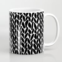 lawyer Mugs featuring Hand Knitted Black S by Project M