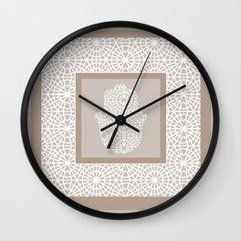 Hamsa in morrocan pattern Wall Clock
