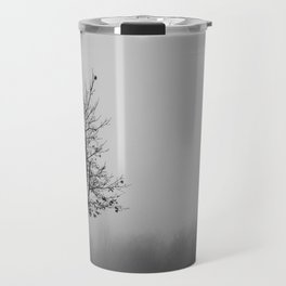 Foggy Silhouettes. Travel Mug