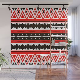 Aztec Red & Black  Wall Mural