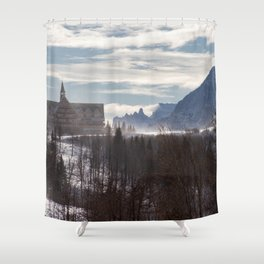 On Top of the Mountain Shower Curtain