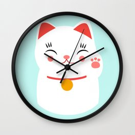 Lucky happy Japanese cat Wall Clock