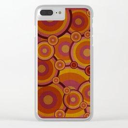 """""""Retro Bubble Gum Circles"""" Clear iPhone Case"""