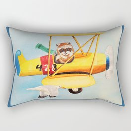 Flying Friends Rectangular Pillow