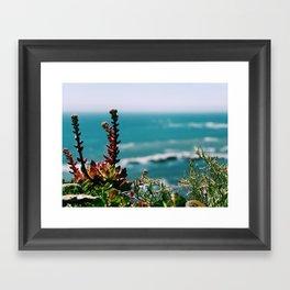 Seaside garden Framed Art Print