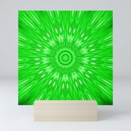 Green Mandala Explosion Mini Art Print