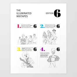 The Illuminated Mixtapes, Edition 6 Art Print