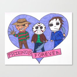 Friends Forever Horror Canvas Print