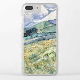 Landscape from Saint Remy by Vincent van Gogh, 1889 Clear iPhone Case