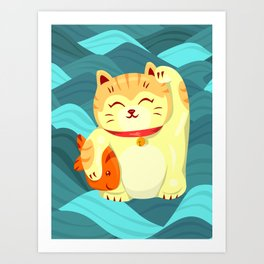"FortuNEKO - ""Fuzzy"" Art Print"