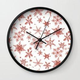 Snow Flakes 02 Wall Clock