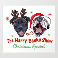 Harry Banks Show Christmas Special  Art Print