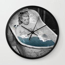 Birdy bath Wall Clock