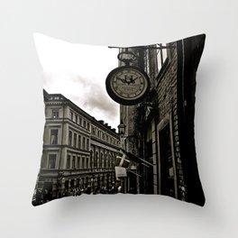 Old Fashion Time Throw Pillow