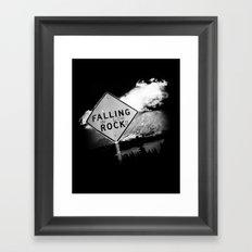 Falling (in love) Rocks Framed Art Print