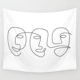 Line Carnival Wall Tapestry
