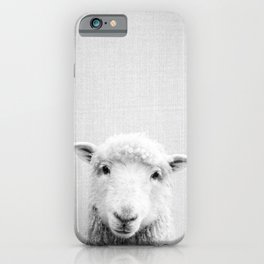 Sheep - Black & White iPhone Case