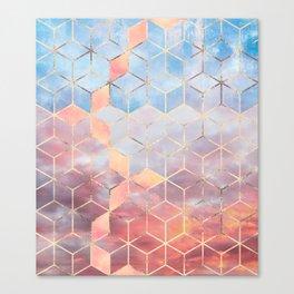 Magic Sky Cubes Canvas Print