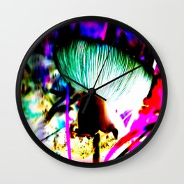 Cosmic Mushroom Wall Clock