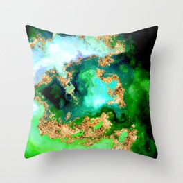 100 Starry Nebulas in Space 011 (Square) Throw Pillow