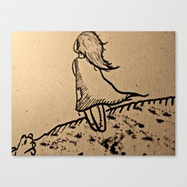 The Lost Girl Canvas Print