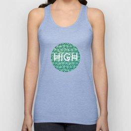 HIGH TYPO! Cannabis / Hemp / 420 / Marijuana  - Pattern Unisex Tank Top
