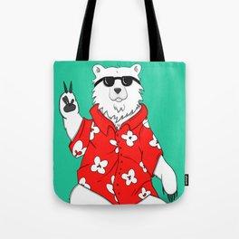 Mr Cool Bear Tote Bag