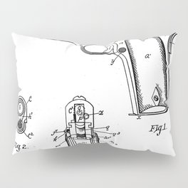 Colt Pistol Patent - Browning 1911 Colt Art - Black And White Pillow Sham