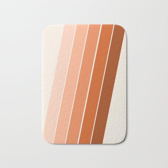The Skinney - 70's abstract minimal stripe striped pattern retro throwback 1970s art decor Bath Mat