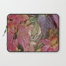 Glossy autumn leaves Laptop Sleeve