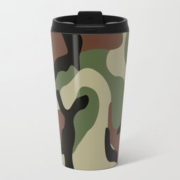 Army Camouflage Pattern Green Forest Travel Mug