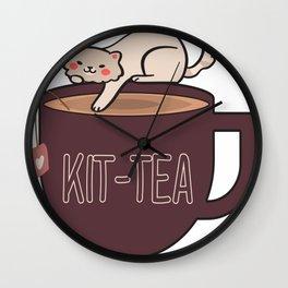 Kitty Kit-tea Wall Clock