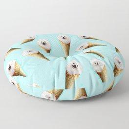 ice cream pomeranian Floor Pillow