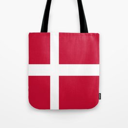 The flag of danmark Tote Bag