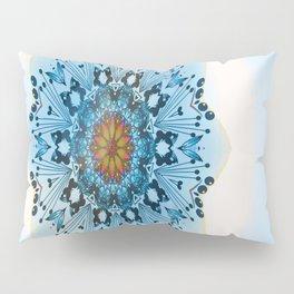 "Pen and ink art,""BUTTERFLIES MANDALA"", digital art, mandala, kaleidoscope Pillow Sham"