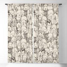 just alpacas natural Blackout Curtain