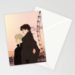 Sherlock and John Stationery Cards