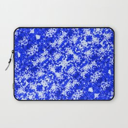 Blue and White Fluid Abstract 45 Laptop Sleeve
