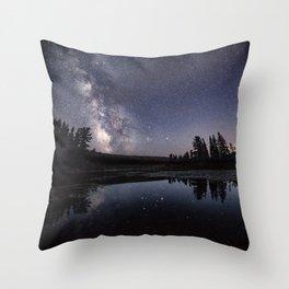 Summer Beaver Pond Throw Pillow