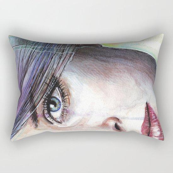 Beautiful Eyes Rectangular Pillow