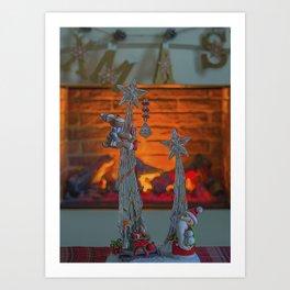 Happy Christmas. Art Print