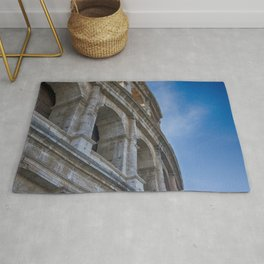 A Colosseum close-up on a great cloudy blue sky | Rome, Italy | Color Photography | Travel Photography | Street Photography | Photo Print | Art Print Rug