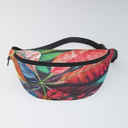 Colorful Tropical Leaves 2 Fanny Pack