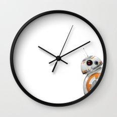 Peeking BB-8 Wall Clock